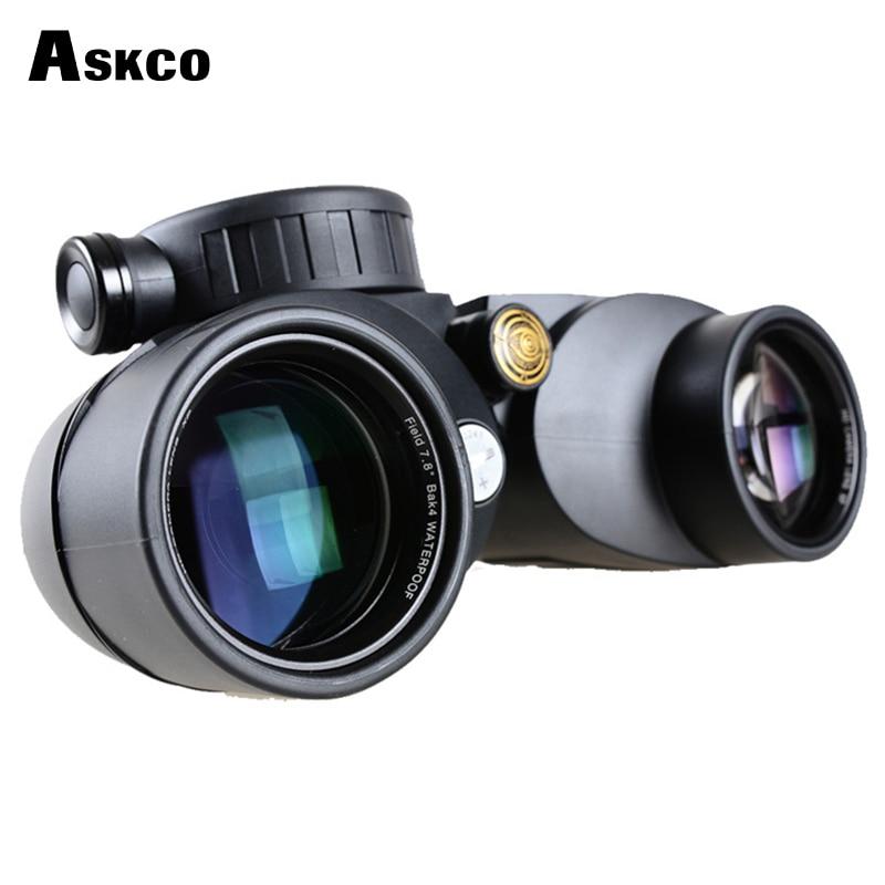 Professional HD 7X50 Rangefinder Army Waterproof & Shockproof Military Binoculars Shockproof Telescope With Rangefinder Compass