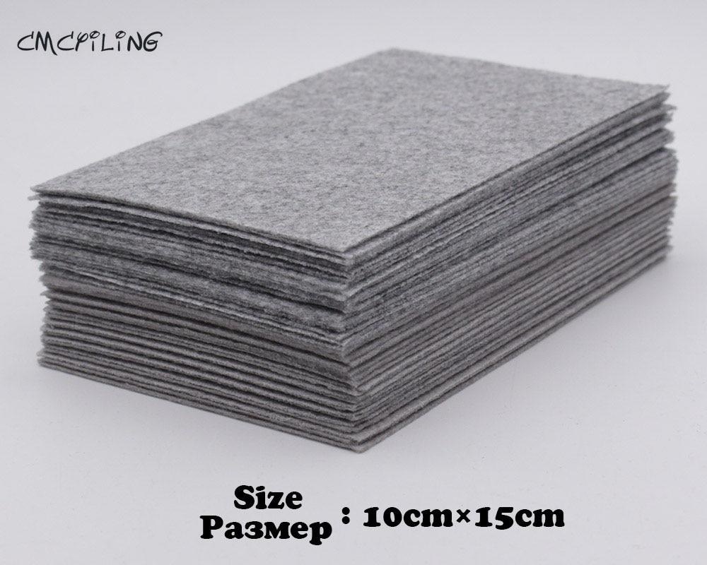 CMCYILING Flecking Gray Hard Felt Craft 1mm Felt Polyester Fabrics Sheets For Arts Crafts Sewing Scrapbooking Fieltro Feltro leather
