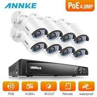 ANNKE 8CH 6MP POE NVR система безопасности с 8 шт. 4 мм 4 МП погодозащитный инфракрасный камеры ночного видения Обнаружение движения WDR 3D DNR