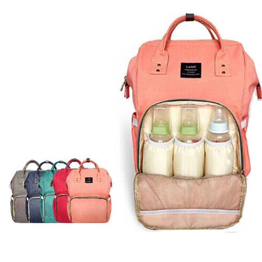LAND Update Mummy Maternity Nappy Bag Brand Large Capacity Baby Bag Travel Backpack Desiger Nursing Bag