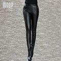 Черный подлинная кожаные штаны 100% овчины карандаш брюки нижняя pantalon pantalones mujer femme LT800 Бесплатная доставка