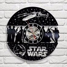 Star Wars Death Star Vinyl Record Design Wall Clock
