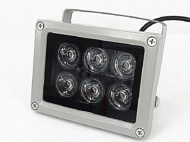 6 60 m de distância do IR Leds Iluminadores infravermelhos Luz Luz Infravermelha IR LED Câmera de CCTV Noite-visão noturna Luz de Preenchimento para Câmera de Segurança CCTV