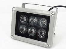 60m IR distance 6 Leds IR Illuminators Light IR Infrared Light LED CCTV Camera Night-vision Fill Light for CCTV Security Camera