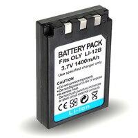 Tüketici Elektroniği'ten Dijital Piller'de 1 adet 1400 mAh Li 12B Li 10B Li12B Li10B Kamera Pil OLYMPUS u300 u400 u410 C760 C765 C70 C7000 C770 u500 u600 u800 u810