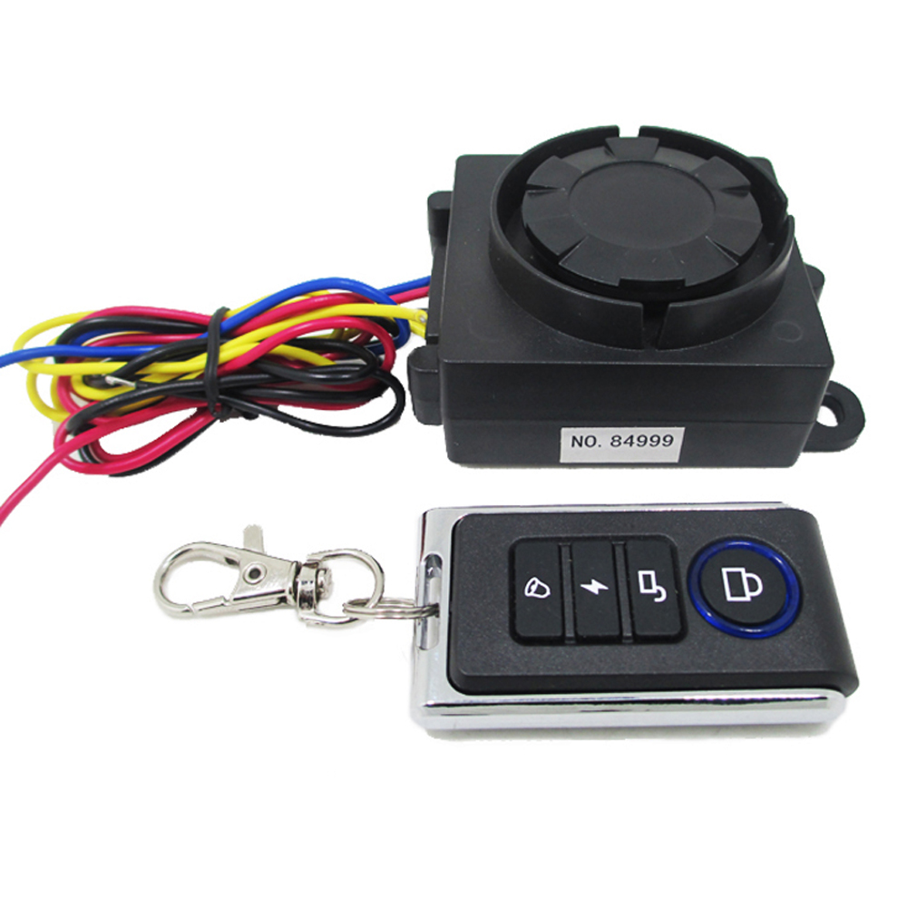 12V 125dB Motorcycle Scooter Alarm Speaker Anti-theft Protection System With Turn Signal Funtion