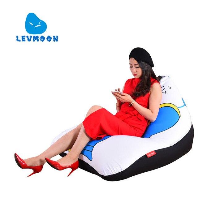 LEVMOON Beanbag Cadeira Do Sofá Tampa Messire zac Shell Conforto Do Assento do Saco de Feijão Cama Sem Enchimento de Algodão Lounge Chair Beanbag Interior