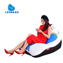 LEVMOON Beanbag Sofa Chair Messire Seat zac Shell Comfort Bean Bag Bed Cover Without Filler Cotton Indoor Beanbag Lounge Chair