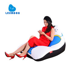 LEVMOON Beanbag Sofa Chair Messire Seat zac Shell Comfort Bean Bag Bed Cover Without Filler Cotton Indoor Beanbag Lounge Chair(China)