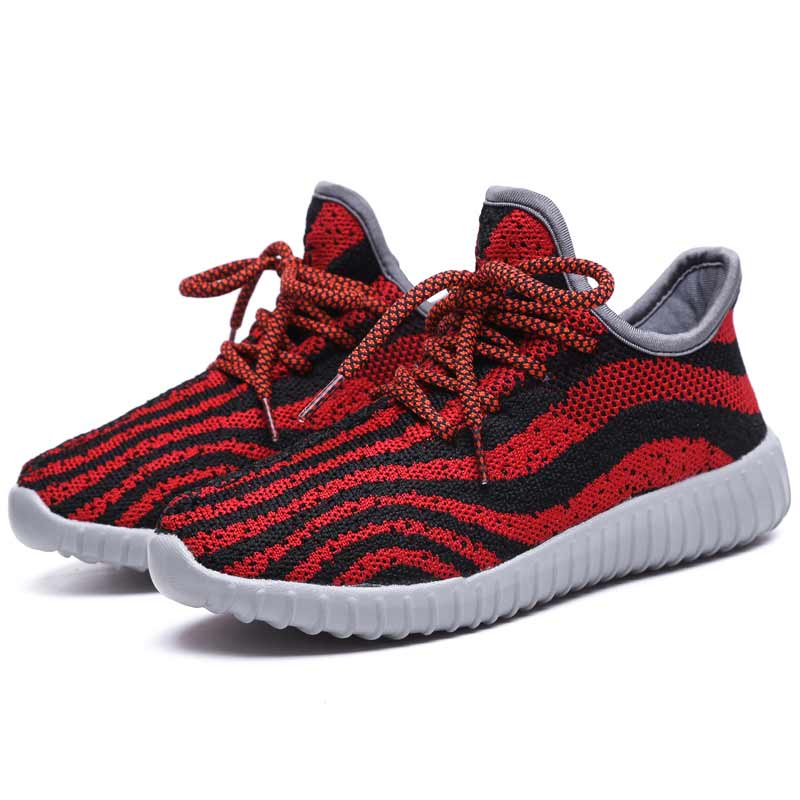 2017 Fashion Wave Boys Girls Mesh Shoes Kids Sport Anti-Slippery Bottom Breathable Children School Shoe Size Free Shipping