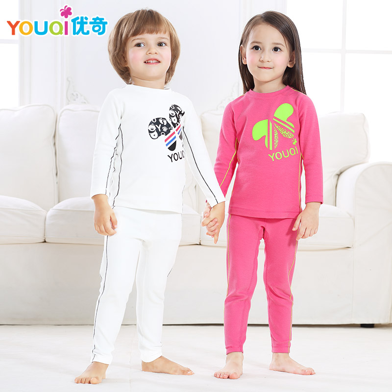 YOUQI Kids Clothing Set Boys Girls Clothes Children T-shirt Pants Suit Cartoon Spring Autumn Baby Outfit Clothing Christmas Gift 2016 new winter spring autumn girls kids boys bunnies patch cotton sweater comfortable cute baby clothes children clothing