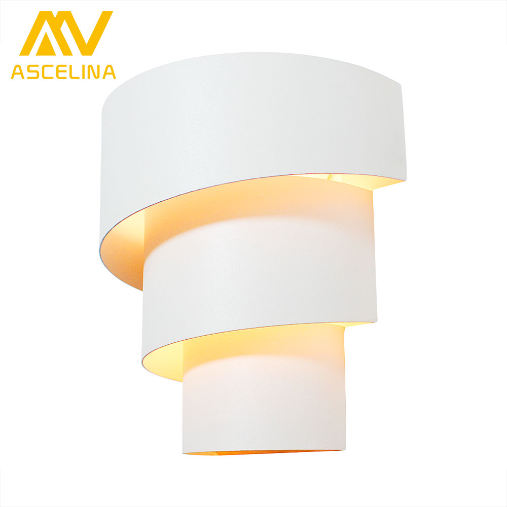Modern Wall Lamp Bedside Lamp White Wall Lamp Light for Bed Room Living Room Reading Room LED Wall Light E27 90-260V цена