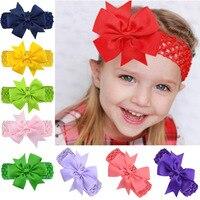 10pcs Baby Hair Bows Girls Toddler Hair Ribbon Bow Accessories Fashion Children Baby Bows Elastic Headband