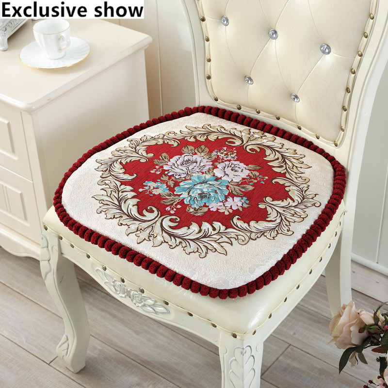 European Embroidery Dining Cushions Thicker Sponge Chair CushionChina Mainland