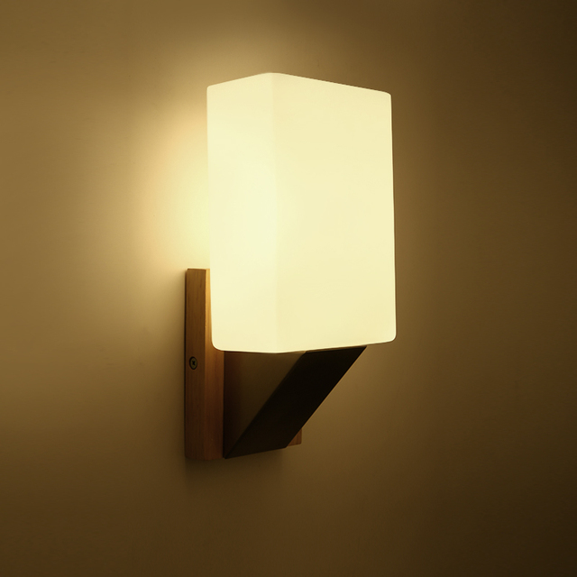 Modern Minimalist Wood Solid Wood Wall Lamp Personality Nordic Japanese  Minimalist Living Room Background Wall Hanging