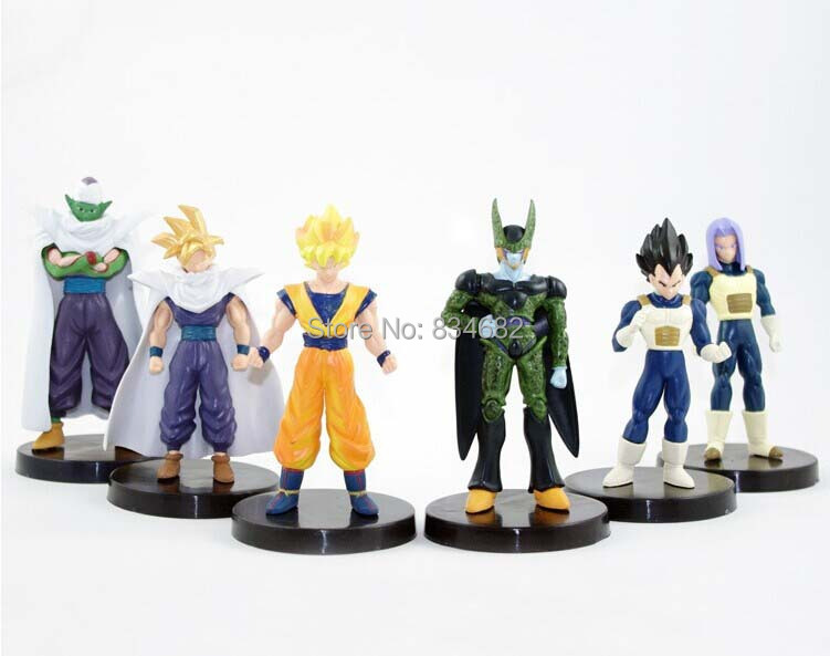 6Pcs Dragon ball Z Dragon ball DBZ Goku Vegeta Piccolo Action Figures Toys Children Kids  Gift Classic Collection Set Toy Anime 7cm large size jp hand done animation crystal dragon ball set genuine model toy gift action figures anime toys kids