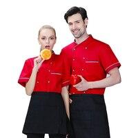 M 6XL Big Size Uniform 2018 Summer Short Sleeve White Chefs Fat Big Work Clothing Women&Men Cheap Cook Jacket Free Shipping
