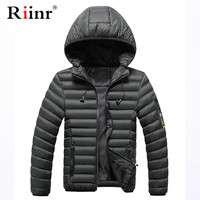 Riinr Winter Cotton Jacket Coats 2019 Men Fashion Solid Color Outwear Thicken Warm Jacket Male Comfortable Warm Jacket