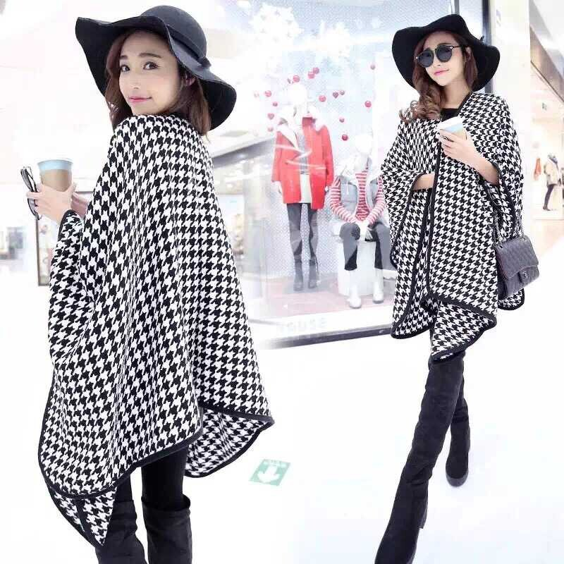 2019 Streamlined Blanket Coat Cashmere Multipurpose Splicing Cape Women's Shawl Star Show Coat Oversized Poncho Scarf Wraps JQ26