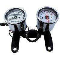 12v Motorcycle Speedometer Tachomter Set LED Backlit Odometer Tacho Gauge for Kawasaki Vulcan Classic Custom 900 750 800 2000