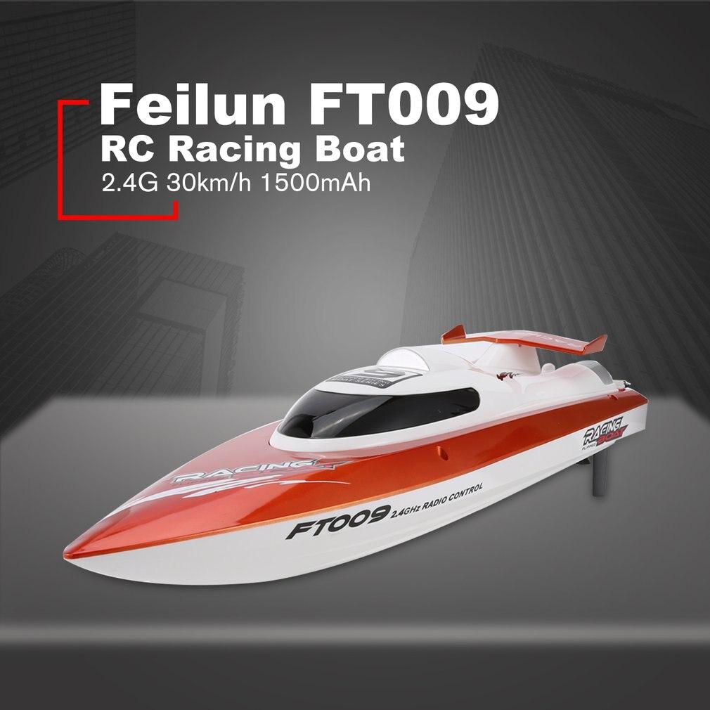 Feilun FT009 2.4G 4CH bateau de course RC à refroidissement par eau 30 km/h bateau électrique RC Super vitesse jouet bateaux télécommandés
