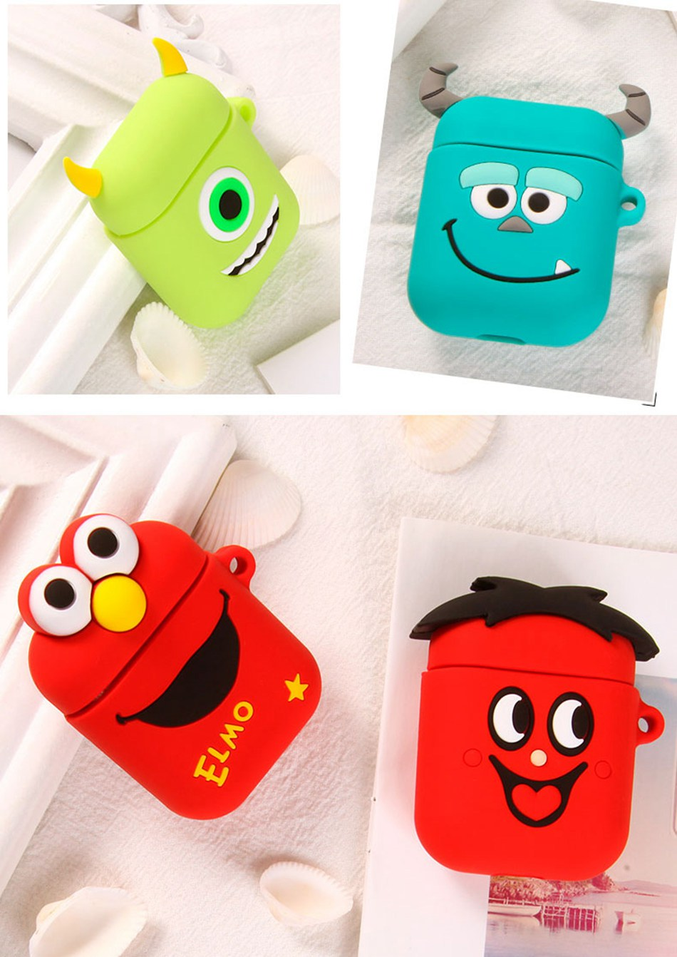 Headphone Case For Apple Airpods Cute Case Soft Silicone Bluetooth