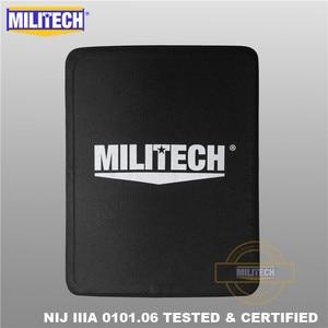 Image 2 - MILITECH 280mm * 350mm NIJ IIIA Ultra Light Weight UHMWPE Bulletproof Ballistic Backpack Panel 11 x 14 inches School Bag Insert