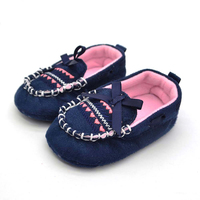 Brown Baby First Walker Shoes Soft Newborn Bow-knot Shoes Cotton