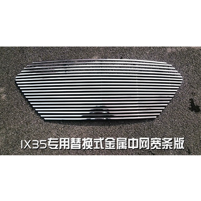 high quality front grille trim around the race grills pad For Hyundai IX35 2013-2015 ,The net + LOGO Car-styling Car-covers high quality aluminum alloy front grille around trim racing grills trim for 2010 2013 kia soul car styling