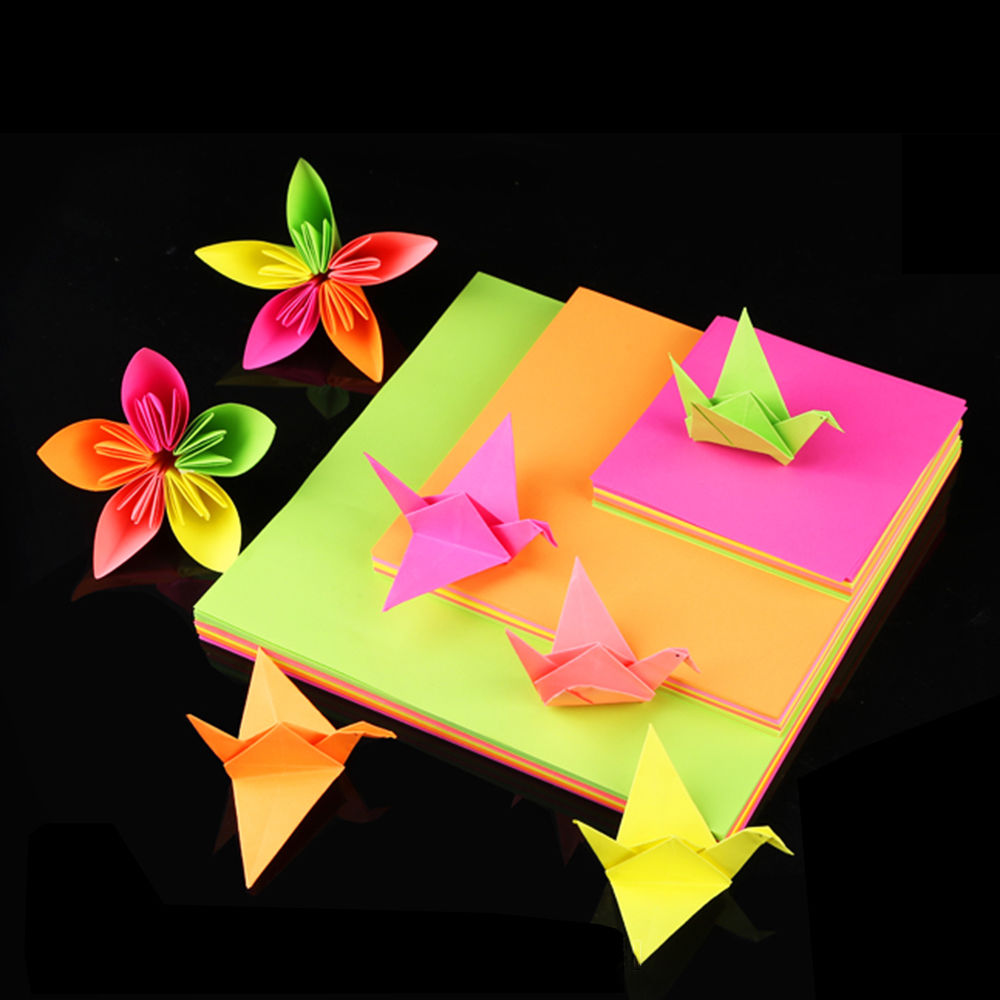 100 Pcs/Set Colored Origami Square Paper Double Sided DIY Scrapbooking Craft Paper For Kids Handmade Paper10x10cm