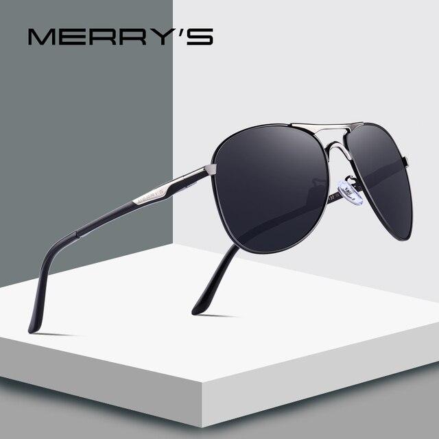 MERRYS DESIGN mężczyźni klasyczne okulary pilotażowe HD polaryzacyjne okulary przeciwsłoneczne dla mężczyzn jazdy luksusowe odcienie ochrona UV400 S8712