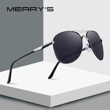 MERRYS עיצוב גברים קלאסי טייס משקפי שמש HD מקוטבת גברים נהיגה יוקרה גוונים UV400 הגנה S8712