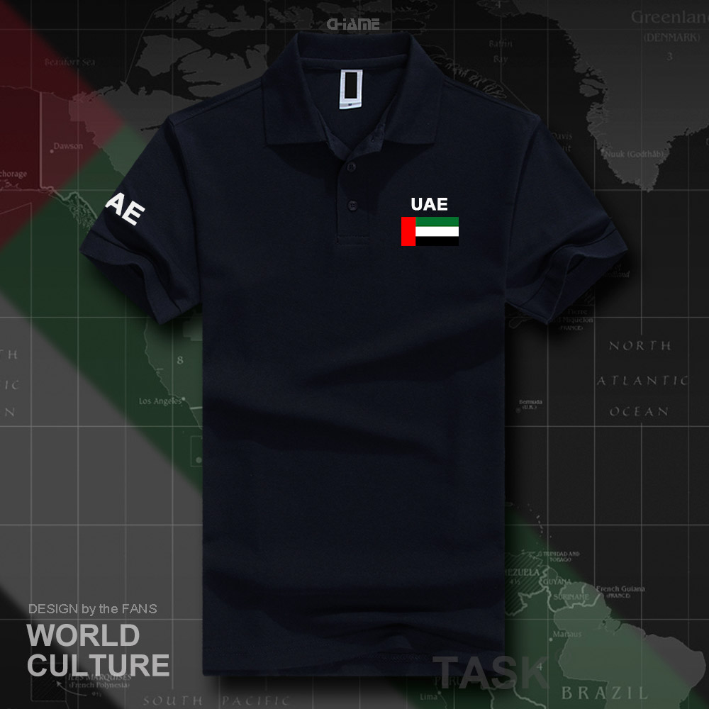 united Arab Emirates   polo   shirts men short sleeve white brands printed for country 2017 cotton nation team flag new fash ARE UAE