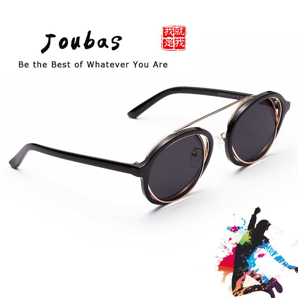 cbdfc4bc974 Joubas Steampunk Men Women Sunglasses 2018 Cool Round Double Frame Sun  glasses UV Unique Interlaced Mental goggles Festival 31