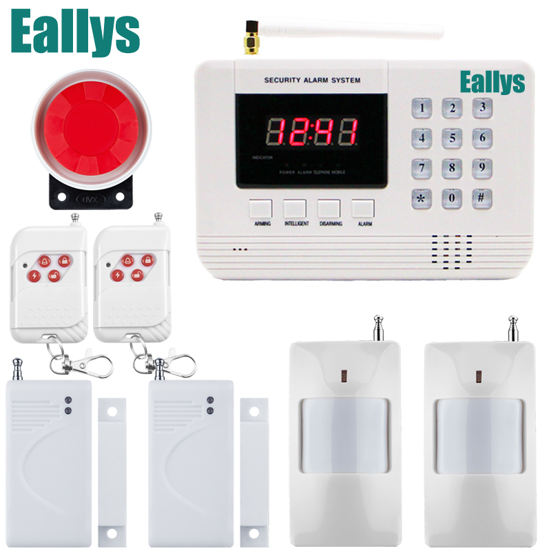 free shipping 433MHz Wireless Arm Disarm GSM PSTN alarm home store anti-thieft alarm system Telephone Line PSTN Alarm System free shipping best quality 433mhz wireless glass vibration breakage sensor detector for gsm and pstn alarm system