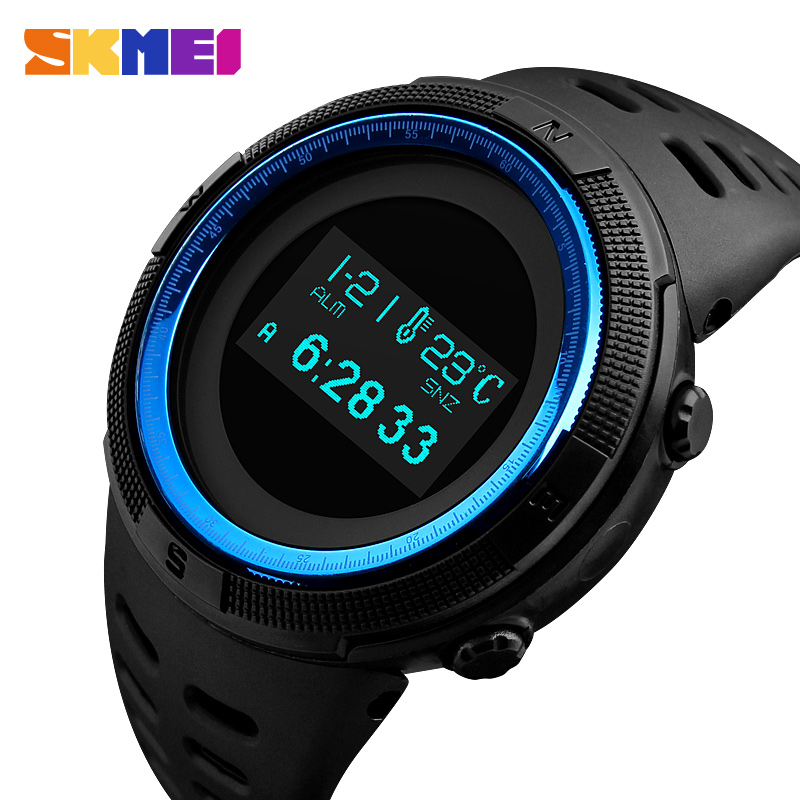 Sports Watches Men Pedometer Calorie Digital Watch Compass Thermometer Mens Wrist Watch Brand Outdoor relogio masculino SKMEI outdoor sports watches men skmei brand countdown led men s digital watch altimeter pressure compass thermometer reloj hombre