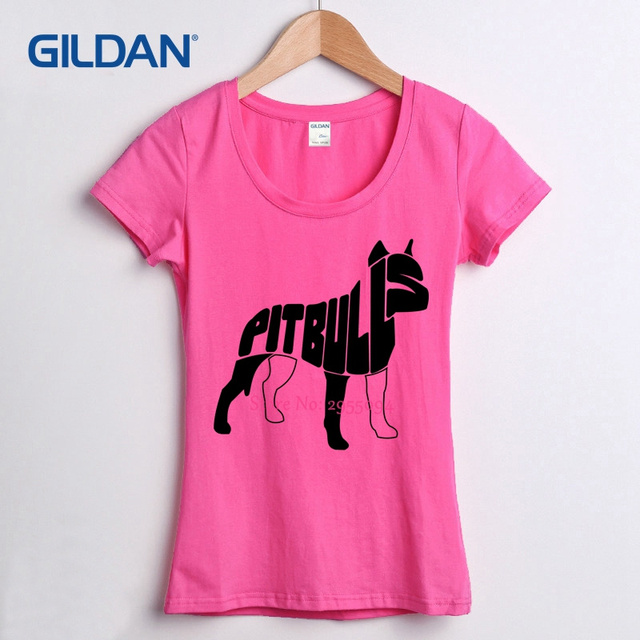 Women T Shirt Online Shopping Quotes Pitbulls 2017 Design A Girls Tee Shirt  Gildan Custom Female T-shirt Online Cotton Hipster 42994878b