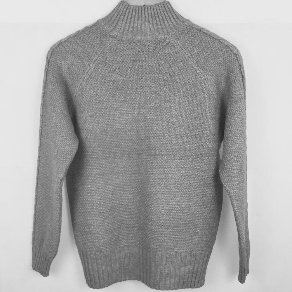 Suéter de mujer tejido de punto de estilo suelto de diseño largo de ... 5331ce9f1011