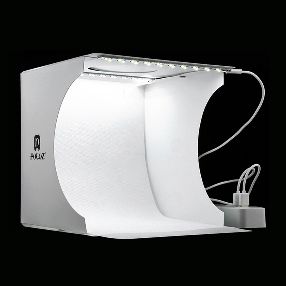 Mini Folding Lightbox Photography Photo Studio Softbox 2 Panel LED Light Soft Box Photo Background Kit Light box for DSLR Camera