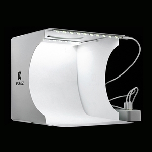 Image 1 - Mini Vouwen Lightbox Fotografie Foto Studio Softbox 2 Panel Led Light Soft Box Foto Achtergrond Kit Light Box Voor Dslr camera