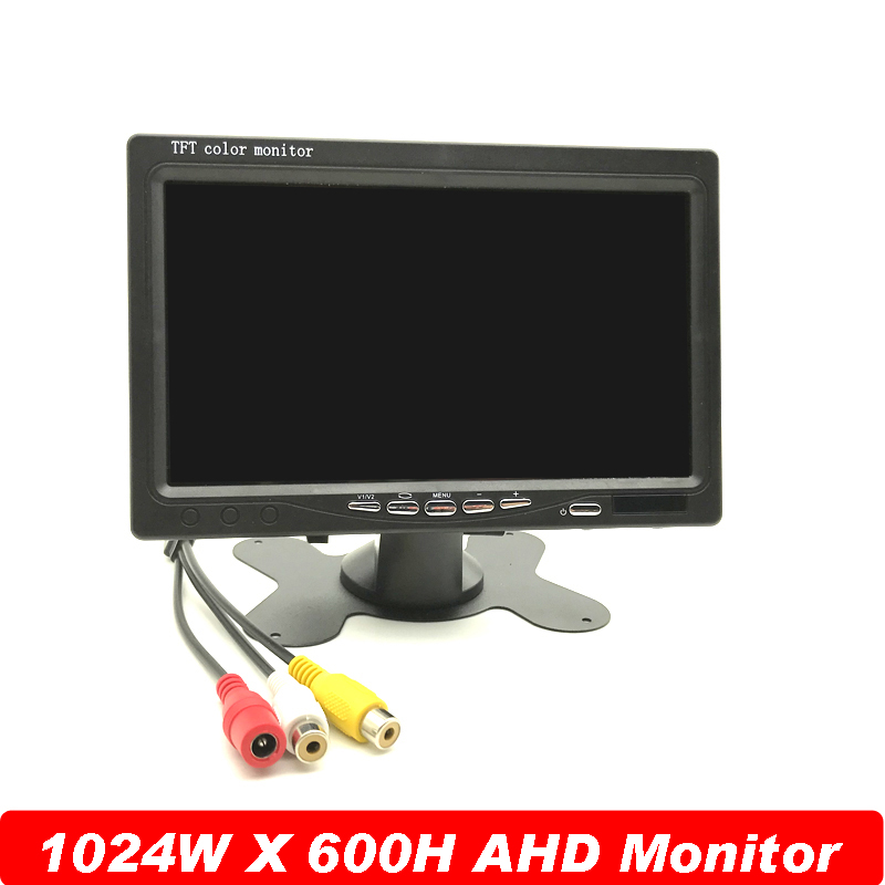 Newest HD Panel New Digital 1024*600 7 Inchs TFT LCD CCTV Dedicated AHD Surveillance Camera IPS Monitor Support PAL/NTSC System escam 10 inch tft hd lcd monitor for security surveillance camera cctv monitor pc monitor pal ntsc system support audio input