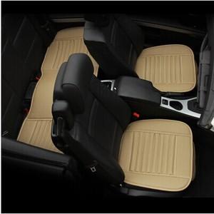 Image 4 - Auto Levert Auto Stoelhoezen, Lente Zomer Premium Auto Zitkussen, Bamboe Houtskool Leer Monolithische Zitkussen