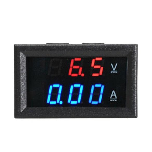 Digital Voltmeter Ammeter Dual Display 10A Tester DC 300V 10A Blue + Red LED Amp Dual Digital Volt Meter Gauge --M25