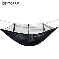 Camping Parachute Fabric Net Hammock Anti Mosquito Hanging Hamak For Outdoor Patio Sleeping Hamac Swing Tree