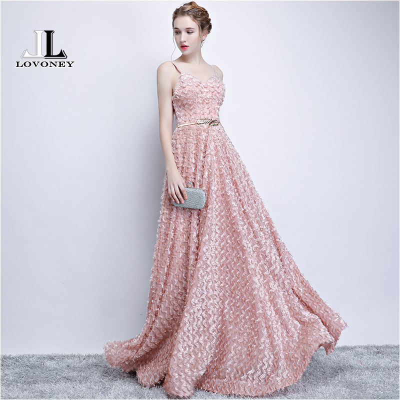 LOVONEY Long   Evening     Dress   2018 Sexy Open Back Formal Party   Dress   Women Occasion   Dresses     Evening   Gown Robe De Soiree YS412