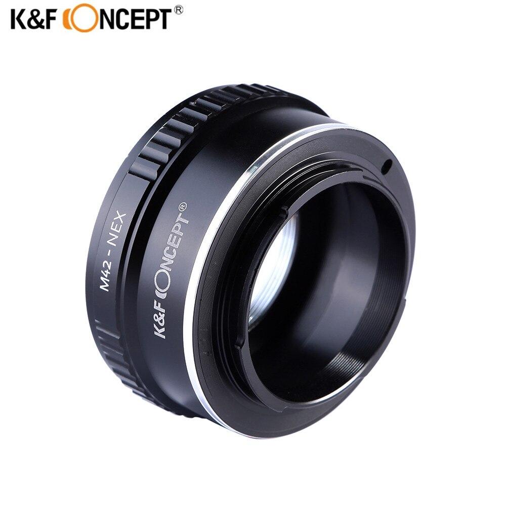 K & F CONCEPT M42-NEX M42 montaje lente para Sony E montaje anillo adaptador para Sony NEX e-mount montaje NEX3 NEX5n NEX5t A7 A6000 Cámara
