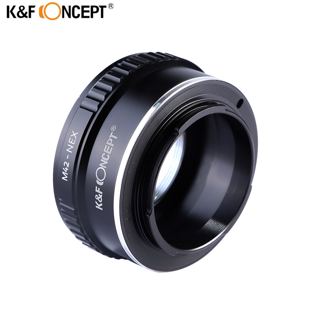 K&F CONCEPT M42-NEX M42 Mount Lens for Sony E-mount Adapter Ring for Sony NEX E-mount NEX3 NEX5n NEX5t A7 A6000 Camera