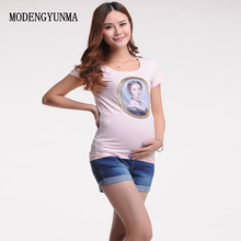MODENGYUNMA Jeans new Maternity Denim Short Shorts For Pregnant Women Gravidas Clothing Pregnant Clothes Elastic Abdominal Pants цена и фото