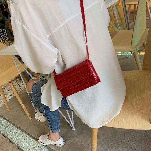 Mini Stone Pattern Crossbody Bags For Women 2020 Pu Leather Purses and Handbags New Designer Ladies Shoulder Messenger Bag 2