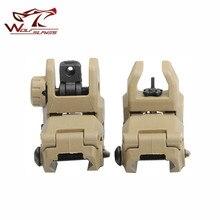 Frente e traseira tático back up vista conjunto militar m4 ak47 glock arms engrenagem gen 1 airsoft caça arma acessórios para picatinny